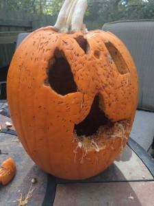 halloween pumpkin rotting